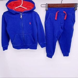 POLO 2 Piece Sweatsuit Size 3T